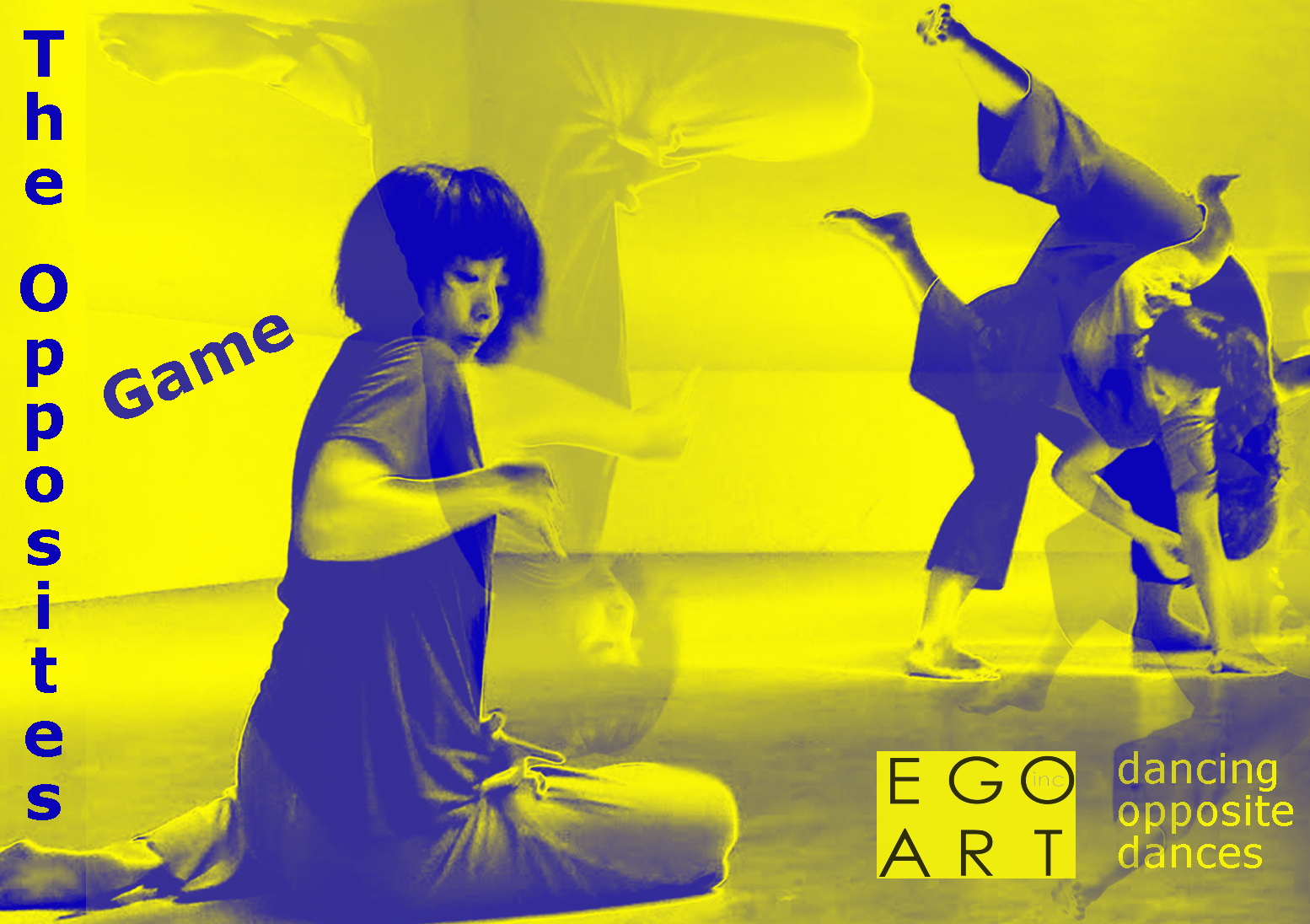 Experience a sneak peek of award-winning dance company, EgoArt, Inc's upcoming premiere The Opposites Game. Explore opposing themes through dance, video, and sound - hot vs. cold, agitated vs. tranquil, tense vs. slack and together vs. alone – in this interactive event.